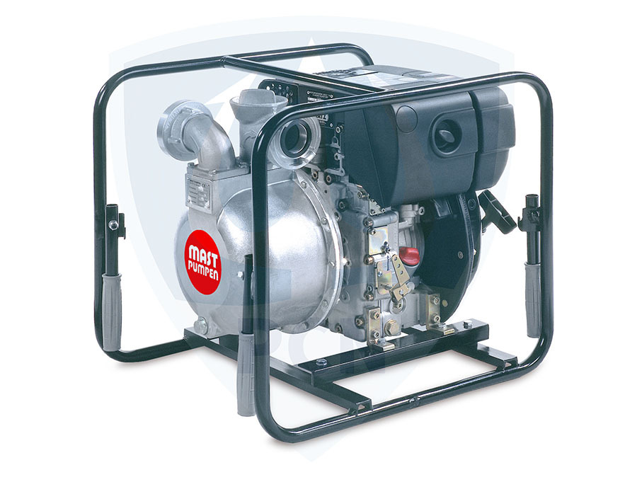 Mast Allzweckpumpe NP 4 D, 4-Takt-Dieselmotor 3,4 kW, C-Saug- und Druckanschluss,Qmax. 500Liter/min.,