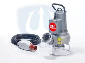 Mast Abwassertauchpumpe ATP15 400V mit einer Foerderleistung von bis zu 1600 litern pro Minute als Standmodell Leistung 1