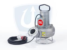 Mast Abwassertauchpumpe ATP20 400V mit einer Foerderleistung von bis zu 2500 litern pro Minute als Standmodell