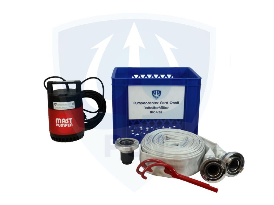 Notfallbehaelter Wasser Premium 330Liter/min.- C-Schlauch, Kupplungsschlussel, Auslaufstutzen, mit integrierter Flachsaugeinrichtung
