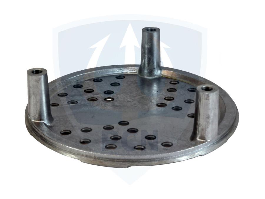 Mast Feuerwehrtauchpumpe TP4-1 DIN 14425 Flachsaugbodenplatte