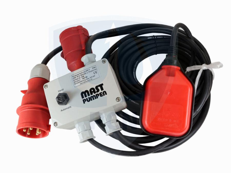 Niveauschaltung Mast Pumpen 400V- für Innen und Aussenbereich