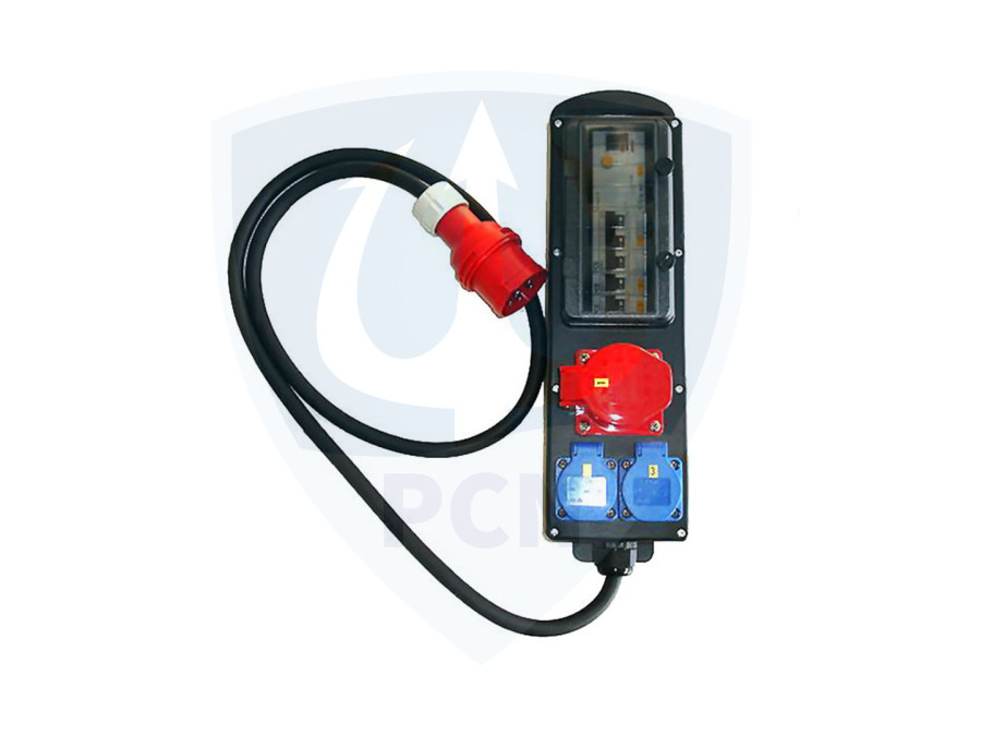 Steckdosenleiste 400V mit PRCDS Schutzschalter