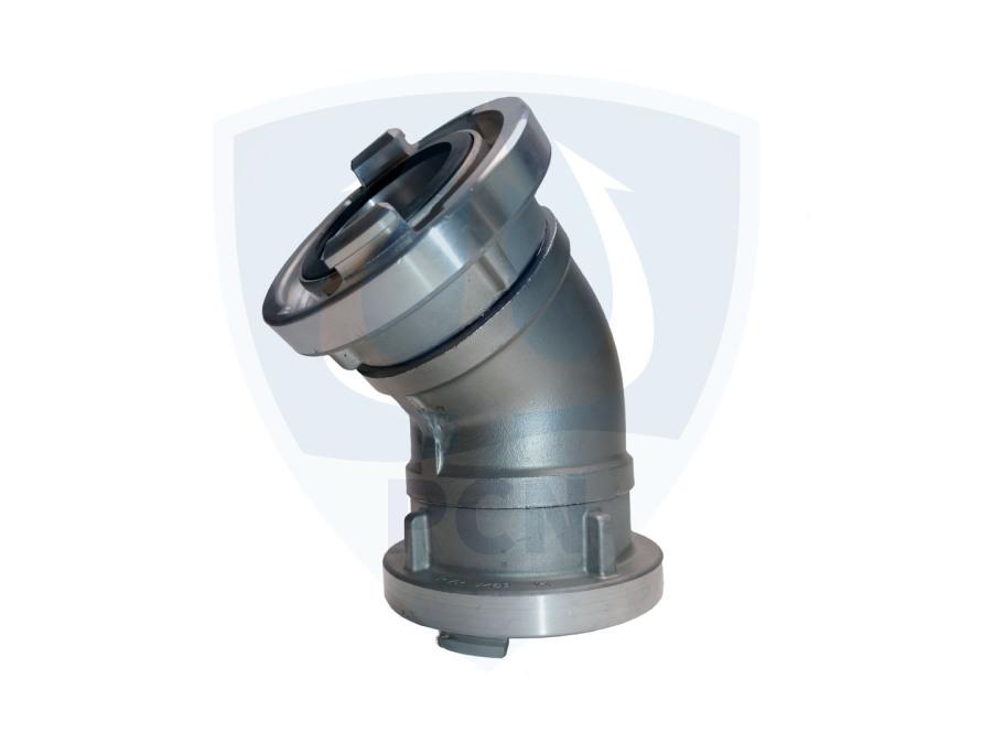 Rohrbogen 45 Grad  2 zoll  mit Storz C-52 Kupplung fest drehbar für Tauchpumpen Mast T6, T6L, ATP 10 und NP 4